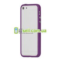 Бампер для iPhone 5/5S/SEФиолетовый