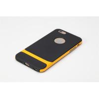 "TPU+PC чехол Rock Royce Series для Apple iPhone 6/6s plus (5.5"")Черный / Оранжевый"