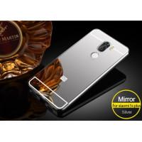 Металлический бампер с акриловой вставкой с зеркальным покрытием для Xiaomi Mi 5s PlusСеребряный
