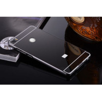 Металлический бампер с акриловой вставкой с зеркальным покрытием для Xiaomi Mi MaxЧерный