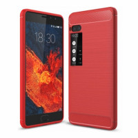 TPU чехол Caseology Slim для Meizu Pro 7 PlusКрасный