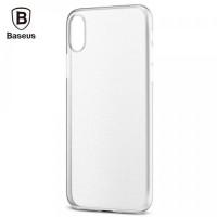 "TPU чехол Baseus Wing Case для Apple iPhone X (5.8"")Белый / Transparent White"
