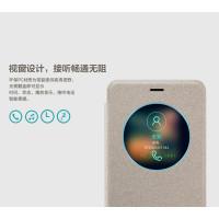 Кожаный чехол (книжка) Nillkin Sparkle Series для Meizu M3eЗолотой