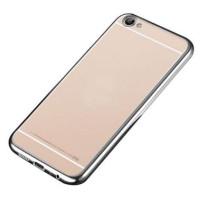 Прозрачный силиконовый чехол для Meizu U10 с глянцевой окантовкойСеребряный