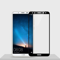 Защитное цветное стекло Mocolo (CP+) на весь экран для Huawei Mate 10 LiteЧерный
