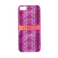 "TPU чехол Just Cavalli Print ""Shiny Python"" для Apple iPhone 5/5S/SEСиреневый"