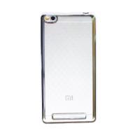Прозрачный силиконовый чехол для Xiaomi Redmi 3 с глянцевой окантовкойСеребряный