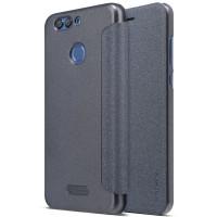 Кожаный чехол (книжка) Nillkin Sparkle Series для Huawei Nova 2 PlusЧерный