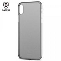 "TPU чехол Baseus Wing Case для Apple iPhone X (5.8"")Черный / Transparent black"