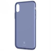 "TPU чехол Baseus Simple Ultrathin для Apple iPhone X (5.8"") с заглушкойСиний / Transparent Blue"