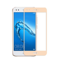 Защитное стекло 2.5D CP+ на весь экран (цветное) для Huawei Y6 Pro (2017) / Nova Lite (2017)Золотой