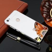 Металлический бампер с акриловой вставкой с зеркальным покрытием для Xiaomi Redmi Note 5A Prime / Y1Серебряный