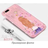 "TPU чехол Magic Girl со стразами для Apple iPhone 7 plus / 8 plus (5.5"")Розовый / Сакура"