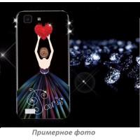 TPU чехол Magic Girl со стразами для Xiaomi Redmi 4XЧерный / Сердце