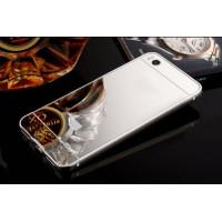 Металлический бампер с акриловой вставкой с зеркальным покрытием для Xiaomi Mi 5sСеребряный