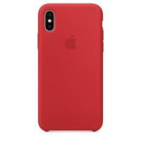 """(Copy) Оригинальный силиконовый чехол для Apple iPhone X (5.8"""")Красный / Red"""