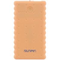 """Портативное зарядное устройство SunPin K50 """"Печенье"""" с фонариком (5000 mAh 1 USB 2A)Желтый"""