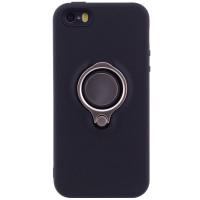 TPU+PC чехол Deen с креплением под магнитный держатель для Apple iPhone 5/5S/SEЧерный