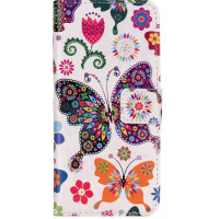 Чехол-книжка Edin c TPU креплением для Xiaomi Redmi Note 5A / Redmi Y1 LiteОрнамент бабочки