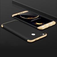 Пластиковая накладка LikGus 360 градусов для Xiaomi Mi Max 2Черный / Золотой