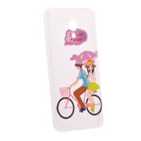 TPU чехол Cute Print для Meizu M3 / M3 mini / M3sPair on bike