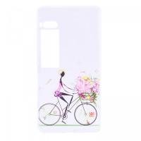 TPU чехол Cute Print для Meizu Pro 7 PlusBicycle riding