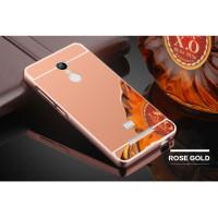 Металлический бампер с акриловой вставкой с зеркальным покрытием для Xiaomi Redmi 5 PlusРозовый