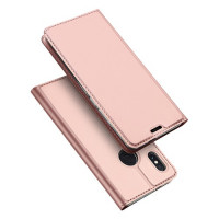 Чехол-книжка Dux Ducis с карманом для визиток для Xiaomi Redmi Note 5 Pro / Note 5 (China)Rose Gold