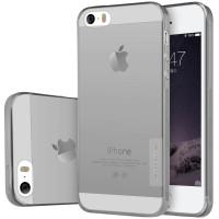 TPU чехол Nillkin Nature Series для Apple iPhone 5/5S/SEСерый (прозрачный)