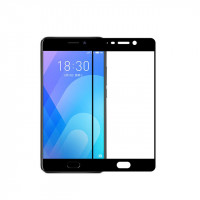 Защитное стекло 2.5D CP+ на весь экран (цветное) для Meizu M6Черный