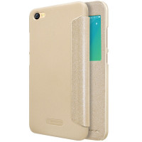 Кожаный чехол (книжка) Nillkin Sparkle Series для Xiaomi Redmi Note 5A / Redmi Y1 LiteЗолотой