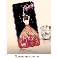 TPU чехол Magic Girl со стразами для Xiaomi Redmi Note 4X / Note 4 (Snapdragon)Черный / Лепестки