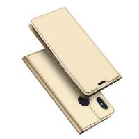 Чехол-книжка Dux Ducis с карманом для визиток для Xiaomi Redmi Note 5 Pro / Note 5 (China)Золотой