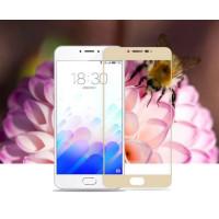 Защитное стекло 2.5D CP+ на весь экран (цветное) для Meizu M3 NoteЗолотой