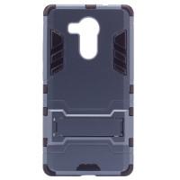 Ударопрочный чехол-подставка Transformer для Huawei Mate 8 с мощной защитой корпусаСерый / Metal slate