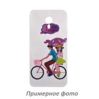 TPU чехол Cute Print для Meizu Pro 7Bicycle riding