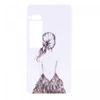 TPU чехол Cute Print для Meizu Pro 7 PlusGirl (dress back)