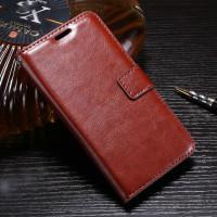 Кожаный чехол (книжка) ROCK Elite series для Huawei P10Коричневый / Brown