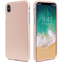 "TPU чехол Mercury iJelly Metal series для Apple iPhone X (5.8"")Rose Gold"