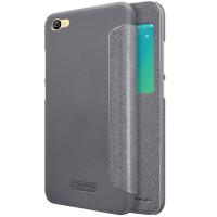 Кожаный чехол (книжка) Nillkin Sparkle Series для Xiaomi Redmi Note 5A / Redmi Y1 LiteЧерный