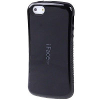 TPU+PC чехол iFace устойчивый к царапинам глянец для Apple iPhone 5/5S/SEЧерный / Черный