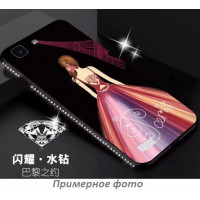TPU чехол Magic Girl со стразами для Xiaomi Redmi Note 4X / Note 4 (Snapdragon)Черный / Париж