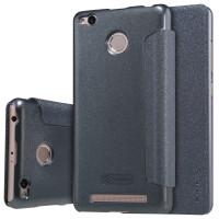 Кожаный чехол (книжка) Nillkin Sparkle Series для Xiaomi Redmi 3 Pro / Redmi 3sЧерный