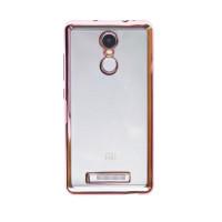 Прозрачный силиконовый чехол для Xiaomi Redmi Note 3 / Redmi Note 3 Pro с глянцевой окантовкойРозовый