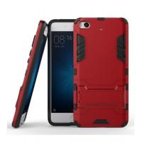 Ударопрочный чехол-подставка Transformer для Xiaomi MI5 / MI5 Pro с мощной защитой корпусаКрасный / Dante Red