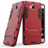 Ударопрочный чехол-подставка Transformer для Huawei Y5 (2017) с мощной защитой корпусаКрасный / Dante Red