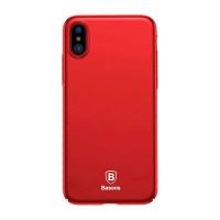 "TPU чехол Baseus Thin Case (one color) для Apple iPhone X (5.8"")Красный"