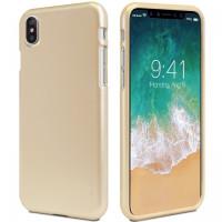 "TPU чехол Mercury iJelly Metal series для Apple iPhone X (5.8"")Золотой"