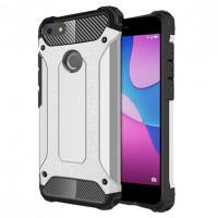 Бронированный противоударный TPU+PC чехол Immortal для Huawei Y6 Pro (2017) / P9 Lite Mini / Nova LiСеребряный