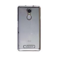Прозрачный силиконовый чехол для Xiaomi Redmi Note 3 / Redmi Note 3 Pro с глянцевой окантовкойСеребряный